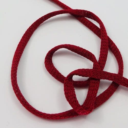 Red cotton tubular tape 0.5 cms wide
